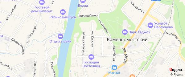Улица Кирова на карте Каменномостского поселка Адыгеи с номерами домов