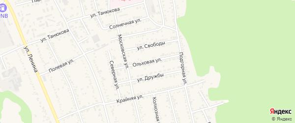 Ольховая улица на карте Лесное-2 Адыгеи с номерами домов