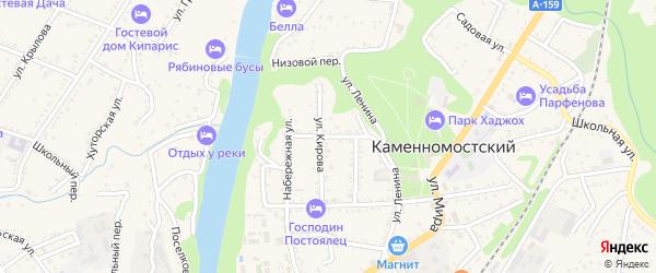 Улица Пушкина на карте Каменномостского поселка Адыгеи с номерами домов