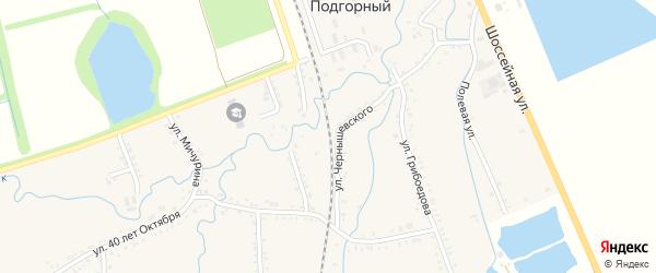 Улица Шевченко на карте хутора Шунтука Адыгеи с номерами домов