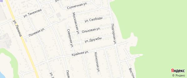 Улица Дружбы на карте Тульского поселка Адыгеи с номерами домов