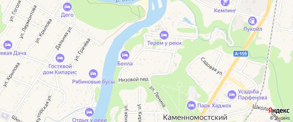 Речная улица на карте Каменномостского поселка с номерами домов
