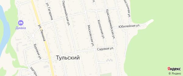 Московская улица на карте Тульского поселка Адыгеи с номерами домов