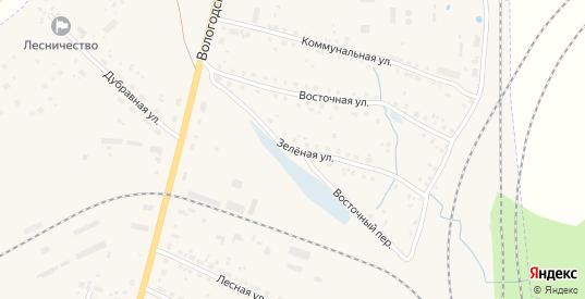Зеленая улица в Данилове с номерами домов на карте. Спутник и схема онлайн