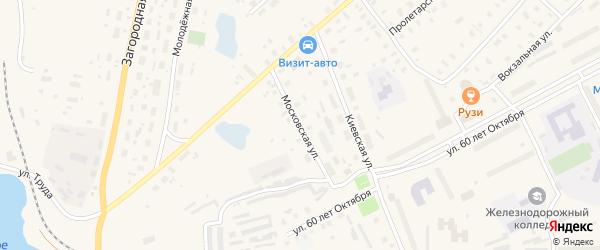 Московская улица на карте Няндомы с номерами домов