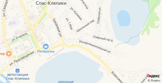 Интернациональная улица в Спасе-Клепики с номерами домов на карте. Спутник и схема онлайн