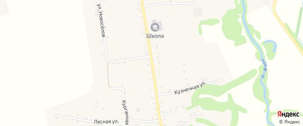 Улица Ленина на карте аула Кабехабля Адыгеи с номерами домов