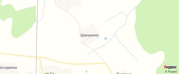 Территория Сельхоз земля Шалахино на карте деревни Шалахино Ярославская области с номерами домов