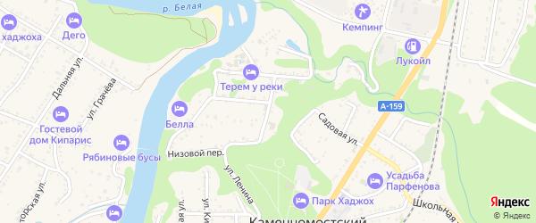 Веселая улица на карте Каменномостского поселка Адыгеи с номерами домов