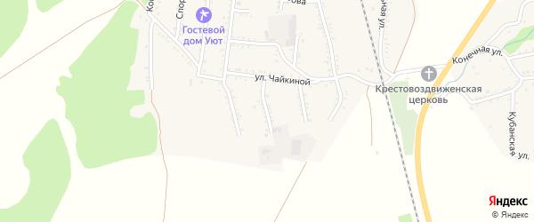 Переулок Кислова на карте Первомайского поселка Адыгеи с номерами домов
