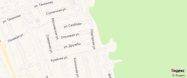 Подгорная улица на карте Тульского поселка Адыгеи с номерами домов