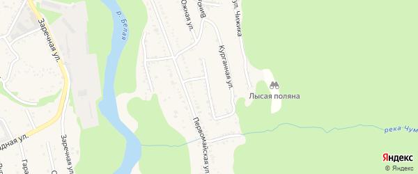 Молодежная улица на карте Тульского поселка Адыгеи с номерами домов