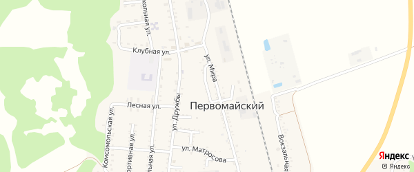 Улица Кошевого на карте Первомайского поселка Адыгеи с номерами домов