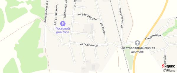 Улица Нахимова на карте Первомайского поселка Адыгеи с номерами домов
