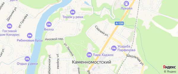 Офицерский переулок на карте Каменномостского поселка с номерами домов