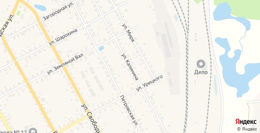 Улица Калинина в Данилове с номерами домов на карте. Спутник и схема онлайн