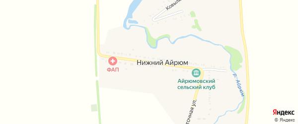 Пролетарская улица на карте села Нижнего Айрюма с номерами домов