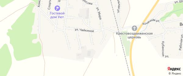 Степная улица на карте Первомайского поселка Адыгеи с номерами домов