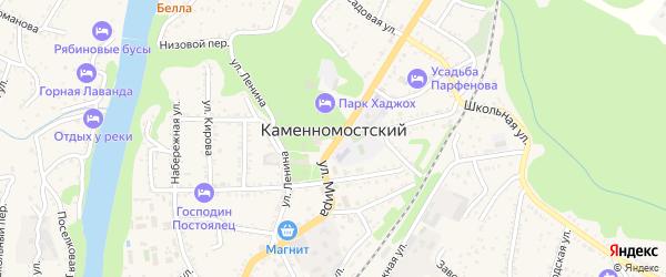 Улица Чкалова на карте Каменномостского поселка Адыгеи с номерами домов