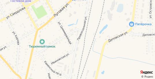 Привокзальная улица в Данилове с номерами домов на карте. Спутник и схема онлайн