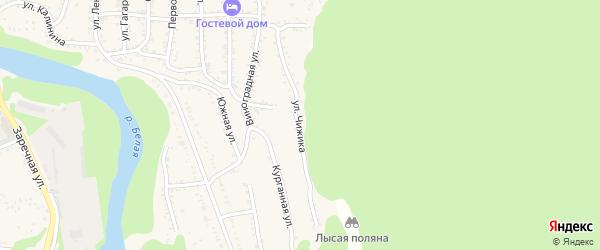 Улица Чижика на карте Тульского поселка Адыгеи с номерами домов