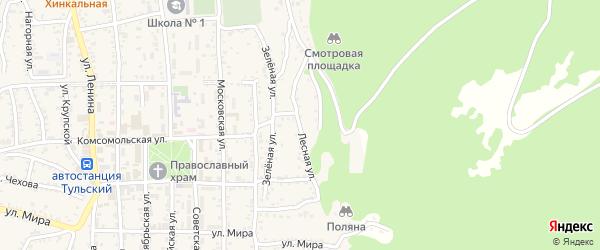 Лесная улица на карте Тульского поселка Адыгеи с номерами домов