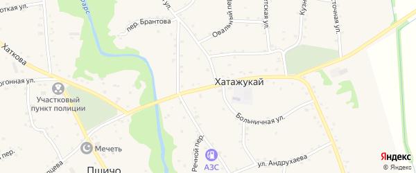Улица Мурата Шовгенова на карте аула Хатажукая Адыгеи с номерами домов