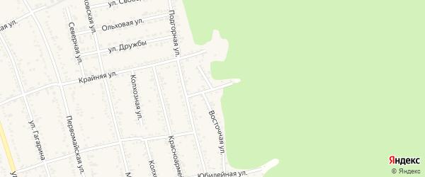 Грушевый переулок на карте Тульского поселка Адыгеи с номерами домов