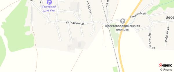 Степной переулок на карте Первомайского поселка Адыгеи с номерами домов