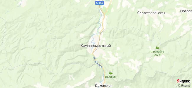 Каменномостский на карте