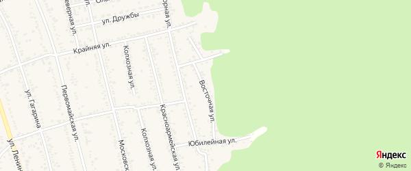 Восточная улица на карте Тульского поселка Адыгеи с номерами домов