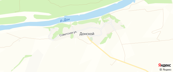 Карта Донского хутора в Воронежской области с улицами и номерами домов