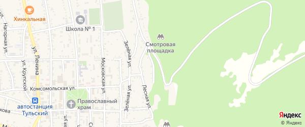 Дубовая улица на карте Тульского поселка Адыгеи с номерами домов