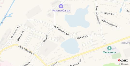 Улица Строителей в Спасе-Клепики с номерами домов на карте. Спутник и схема онлайн