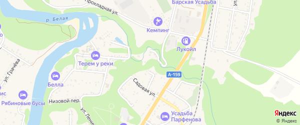 Виноградная улица на карте Каменномостского поселка Адыгеи с номерами домов