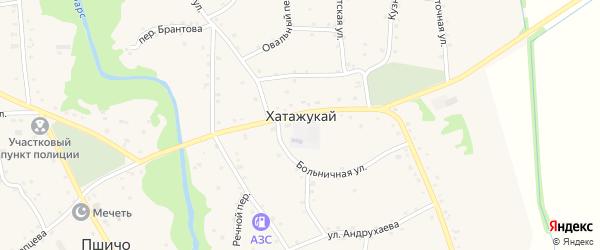 Выгонная улица на карте аула Хатажукая Адыгеи с номерами домов