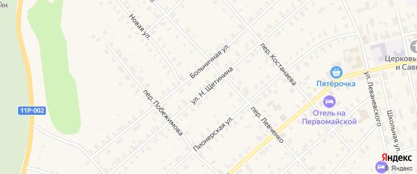 Улица Н.Щетинина на карте Няндомы с номерами домов
