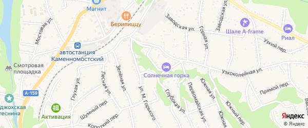 Верхний переулок на карте Каменномостского поселка Адыгеи с номерами домов