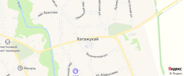Пролетарская улица на карте аула Хатажукая Адыгеи с номерами домов