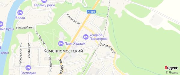 Улица Чайковского на карте Каменномостского поселка Адыгеи с номерами домов