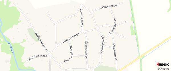 Советская улица на карте аула Хатажукая Адыгеи с номерами домов