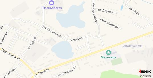 Новая улица в Спасе-Клепики с номерами домов на карте. Спутник и схема онлайн