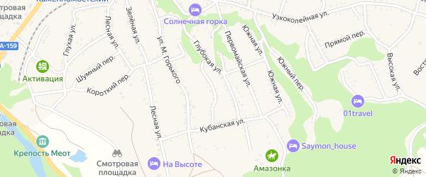 Улица Маяковского на карте Каменномостского поселка Адыгеи с номерами домов