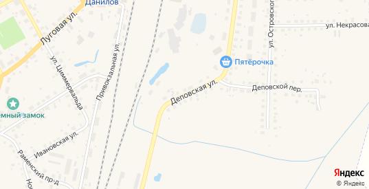 Деповская улица в Данилове с номерами домов на карте. Спутник и схема онлайн