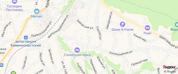 Новозаводская улица на карте Каменномостского поселка Адыгеи с номерами домов