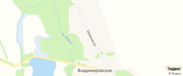 Широкая улица на карте Владимировского села Адыгеи с номерами домов