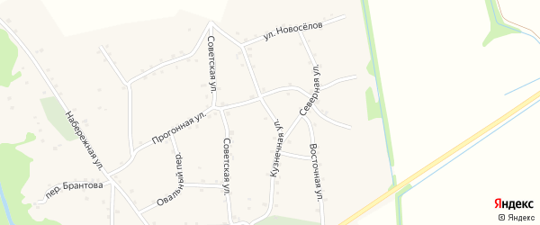 Кузнечная улица на карте аула Хатажукая Адыгеи с номерами домов