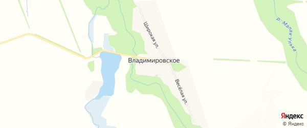 Карта Владимировского села в Адыгее с улицами и номерами домов