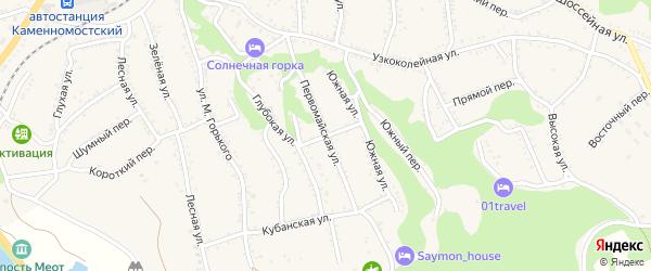 Советская улица на карте Каменномостского поселка с номерами домов