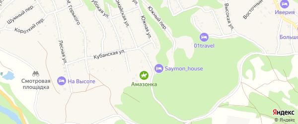 Выгонная улица на карте Каменномостского поселка Адыгеи с номерами домов